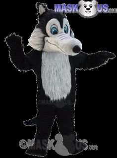 Black Wolf Mascot Costume T0108 is part of our Animal Mascots Forest Animals Thermo-Lite line. The mascot costume head is constructed out of vaccum-formed styrene for a light-weight, cooler head and includes a screened vision panel, comfort ventilation panels, and a built-in cooling fan. Mascot costume fits most adults ranging from 5'4 inches (162 cm) to 6'2 inches (183 cm) and chest size up to 60 inches (152 cm).