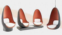 Philippe Starck Designed Lounge Chairs from Dedon - Furniture Bath Tableware - Chair Design Fabric Canopy, Diy Canopy, Canopy Tent, Window Canopy, Beach Canopy, Canopy Curtains, Canopy Bedroom, Backyard Canopy, Canopy Lights