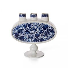 Delft Blue No. 03 - blue and white ceramic vase, produced and decorated at Royal Delft : Marcel Wanders for Moooi