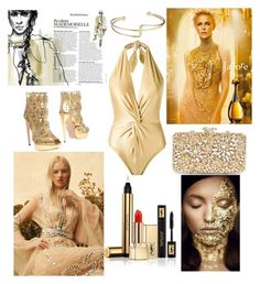 """Untitled #174"" by darklady2705 on Polyvore featuring Martha Medeiros, Alexander McQueen, Glint and Yves Saint Laurent"