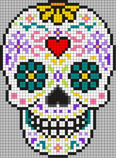 This badass lapgan was one of the first big projects that I made for just me. This badass lapgan was one of the first big projects that I made for just me. Pixel Pattern, Pattern Art, Perler Patterns, Loom Patterns, Cross Stitch Designs, Cross Stitch Patterns, Cross Stitching, Cross Stitch Embroidery, Cross Stitch Skull