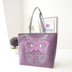 2016 New Design Fashion Lady Owl Shopping Handbag Shoulder japan Canvas Bag Tote Purse Bags