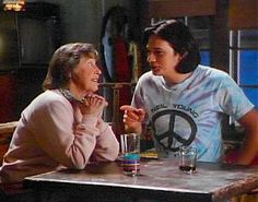Ed and Ruth Anne Miller share a moment northern exposure. (Peg Phillips as Ruth-Anne Miller, the level-headed owner of the general store and 30-year resident of Cicely.)