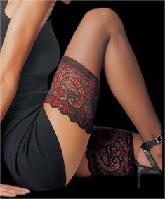 Le Bourget Essential Hold Ups - Mayfair Stockings. I thought they were tattoos for a second. Sexy Tattoos, Body Art Tattoos, Tattoos For Women, Tatoos, Thigh Tattoos, Garter Tattoos, Ribbon Tattoos, Tasteful Tattoos, Stomach Tattoos