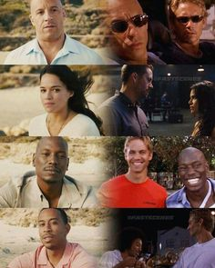 Vin Michelle Tyrese & Ludacris with looking back while working with Paul Walker
