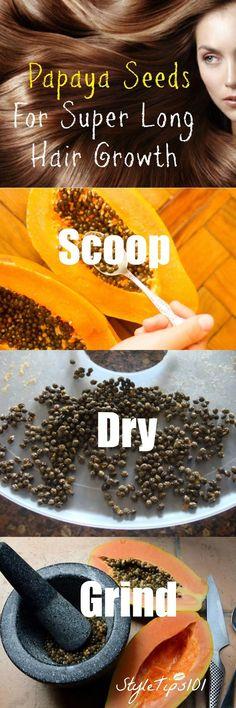 Papaya Seeds for Hair Growth
