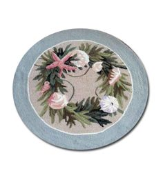 Shell and seaweed round rug - 119.99 for dining room