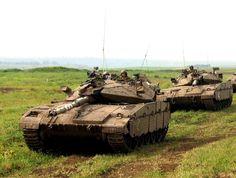 Two Merkava Mk 2D tanks