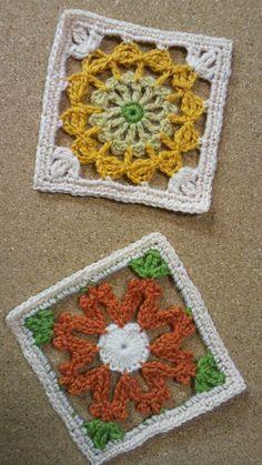 フェリシモ 小さなお話布小物DN1の画像 | 野の花手芸噺 Dantel çiçekli kare motif örneği
