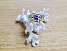 Handmade solid yellow gold organic twig ring set with an Amethyst, Peridot and a Diamond. Peridot, Amethyst, Sapphire, Twig Ring, Handcrafted Jewelry, Handmade, Jewelry Making, Organic, Jewels