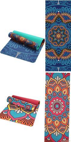 2087ac39e454 5 MM Lotus Yoga Mat - Suede   TPE Yoga Mat - Non-slip Double Layers Yoga Mat