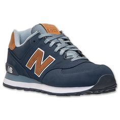 New Balance Men's 574 Casual Sneakers from Finish Line - Finish Line Athletic Shoes - Men - Macy's Nb Sneakers, Sneakers Outfit Men, Sneakers Fashion, Shoes Men, Mens Casual Sneakers, Fashion Shoes, Fashion Outfits, New Balance Azul, New Balance Men