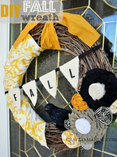 DIY Fall Wreath #fallwreaths #wreaths #DIYwreaths