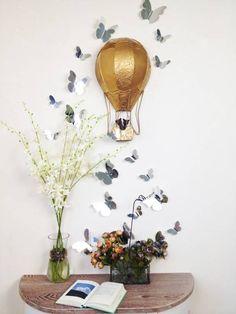 3D vlinders spiegel - 3D vlinders spiegel. Deze 3D vlinders geven je interieur een persoonlijke touch. De vlinders zijn gemakkelijk te verwijderen zonder schade aan de muur! Shop deze leuke interieur vlinders bij de Glamour Concept Store.