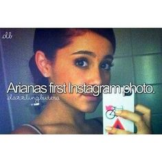 Ariana Grande's first Instagram photo. If you have an Instagram go follow grande_girll