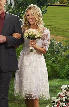 Penny's wedding dress on The Big Bang Theory.  Outfit Details…