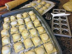 home made sage ravioli stuffed with butternut squash