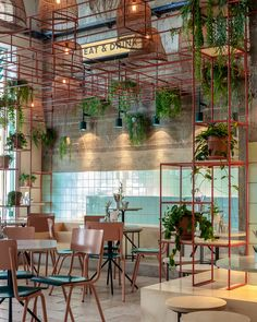 Completed in 2018 in Tel Aviv-Yafo, Israel. Images by Ido Adan. Mar restaurant is located in Jaffa's Flee market. Thanks to its proximity to Jaffa's Port, the restaurant takes its inspiration from fresh fish. Coffee Shop Design, Cafe Design, Israelisches Restaurant, Restaurant Interior Design, Shop Interiors, Cafe Bar, Commercial Interiors, Retail Design, Shops