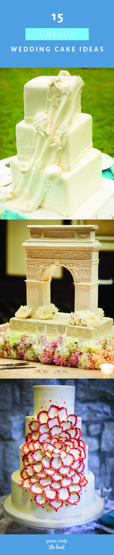 fancy wedding cakes The cake is the exclamation point of your receptionmake sure it stands out with a unique touch. Wedding Ceremony, Our Wedding, Dream Wedding, Reception, Wedding Stuff, Fancy Wedding Cakes, Creative Wedding Ideas, Dream Cake, Cookie Desserts