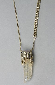 The Wax Drip Necklace in Antique Gold       43% Off  $ Converter