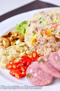 Khao Pad Nam - Fried Rice with Sour Pork (Pickled Pork Sausage) - FoodTravel.tv Recipe