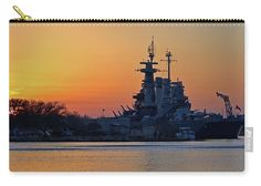 Sunset Carry-all Pouch featuring the photograph Battleship Sunset by Cynthia…