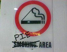 If only all Smoking areas became Pie areas...!