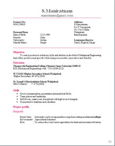 Format For Cv For Engineering Student Latest Resume Httpwwwjobresume   Resume  Format Website