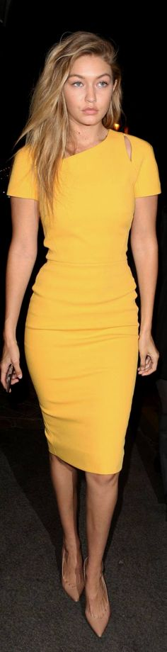 Gigi Hadid in Victoria Beckham