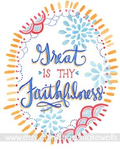 Great is Thy Faithfulness  print