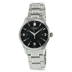 Victorinox Swiss Army Alliance Charcoal Dial Steel Ladies Watch 241540 Victorinox Swiss Army. $290.50. Steel Bracelet Strap. Water Resistance : 10 ATM / 100 meters / 330 feet. Quartz. Round Stainless Steel Case. Date