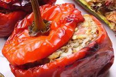 Poivrons farcis à la grecque (Yemista) : un savoureux plat complet