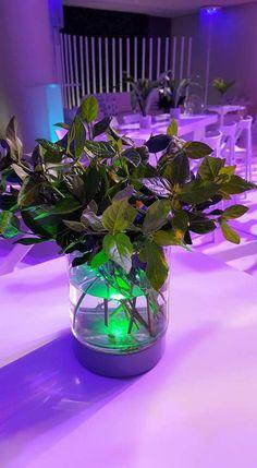 #leddecor #ledlighting #ledlights #tabledecorideas #tabledecor #weddingdecor #tablelightideas Led Centerpieces, Floral Arrangements, Glass Vase, Glow, Projects, Home Decor, Log Projects, Blue Prints, Decoration Home