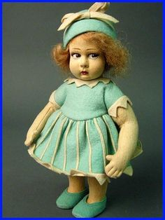 Blue Lenci doll sold for $1,301!! Photos from Whats It Worth? eBay ...