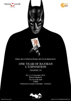 #Exposition du 2 au décembre 2014 : #Batman s'expose à la galerie Oppidum à #Paris à travers une série de sérigraphies spécialement créées pour son 75ème anniversaire