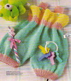 Receita de Tricô: Macaquinho em tricô para bebê