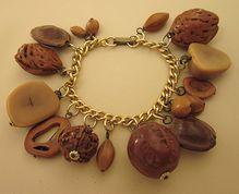 Vintage Charm Bracelet of Nuts - Bold Dangles