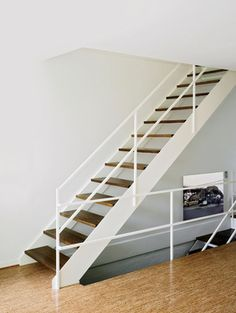 Lafayette Park Townhouse Staircase Metal, Floating Staircase, Modern Staircase, Spiral Staircases, Railing Design, Staircase Design, Loft Spaces, Small Spaces, Ludwig Mies Van Der Rohe