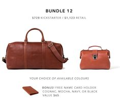 Minimalist Leather Bags without the Luxury Markup by Linjer Leather Goods — Kickstarter