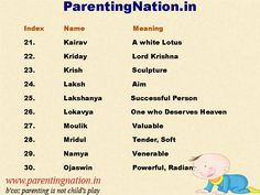 7 Best Unique Baby Boy Names With Meaning images in 2014 | Hindus