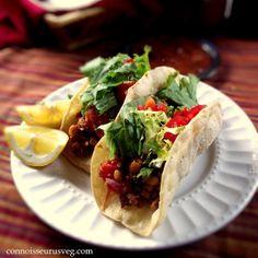 Grilled Veggie  Quinoa Tacos with Cilantro Pesto Recipe