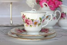 Vintage tea set English bone china Royal Kent par NancysTeaShop, $20.00