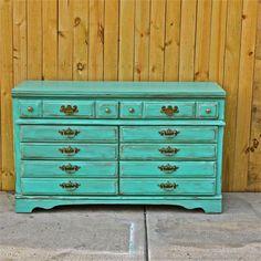 dresser brown and red image | Dresser/ Brown Glaze /VintageHardware /Bedroom Furniture/ Dresser ...