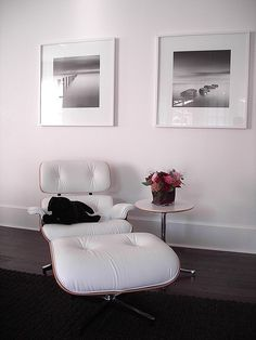 Eames lounge chair and ottoman inspiration.