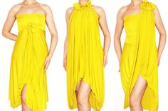 Items similar to Convertible Wrap Infinity Multi - way Dress Tunic Skirt Pants in Yellow jersey - more than 18 ways to wear, on Etsy Multi Way Dress, Different Dresses, Skirt Pants, Summer Trends, Summer Wear, Diy Clothes, Convertible, Infinity, Strapless Dress