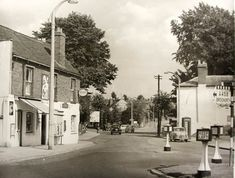 Worcester Street, Norton, 1960, Old White Horse car park now on the left