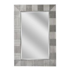Crosshatch Raking Satin Nickel Wall Mirror (1064)