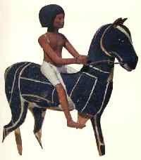 Rider statuette, 18th dynasty