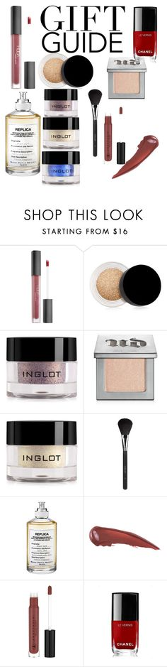 """""""My holiday gift guide!"""" by bellashannon ❤ liked on Polyvore featuring beauty, Huda Beauty, Inglot, Urban Decay, Maison Margiela and Chanel"""
