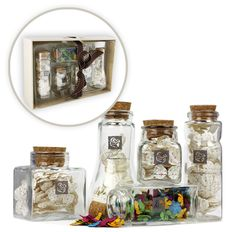 These Glass Jars would be perfect for organizing! Prima - Special Edition - Apothecary Glass Jars of Mulberry Flowers in a Tray at Scrapbook.com $9.99 (was $31.99)